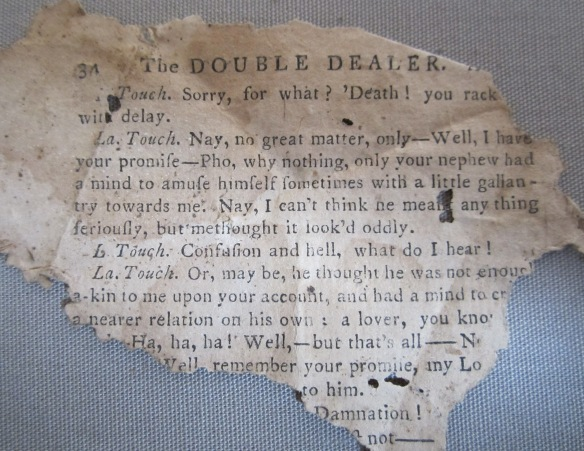 A page from the Double Dealer