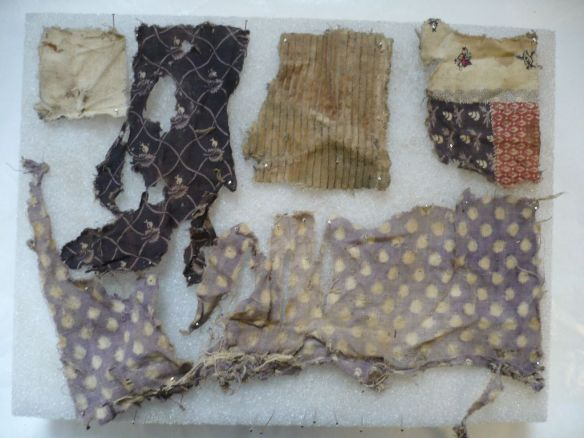 A selection of cloth pieces