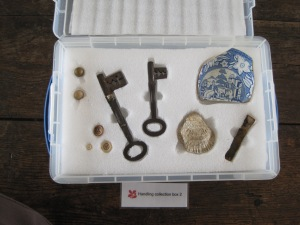 Objects found at Godolphin that can be handled by visitors