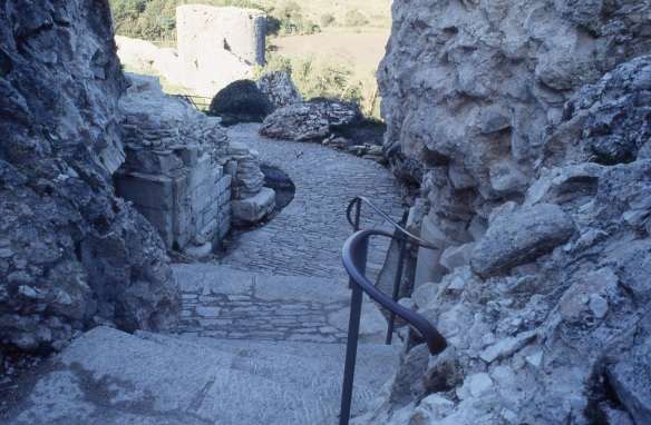 The Inner Ward Gate looking back towards the West Bailey when opened