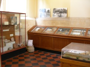 The old museum cupboards at Chedworth