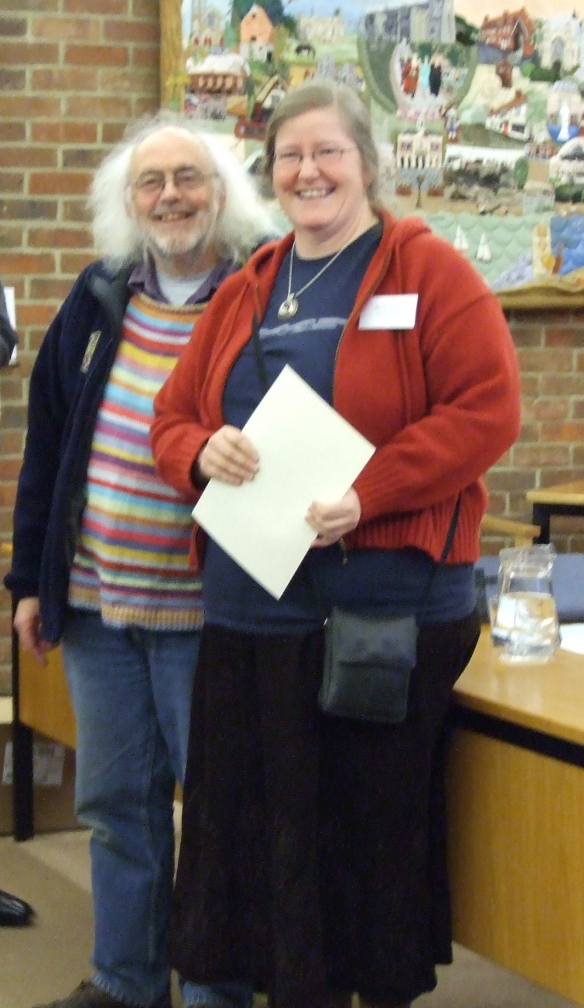 Mick giving out Dorset Archaeological Awards a few years ago. I was collecting Martins award for him
