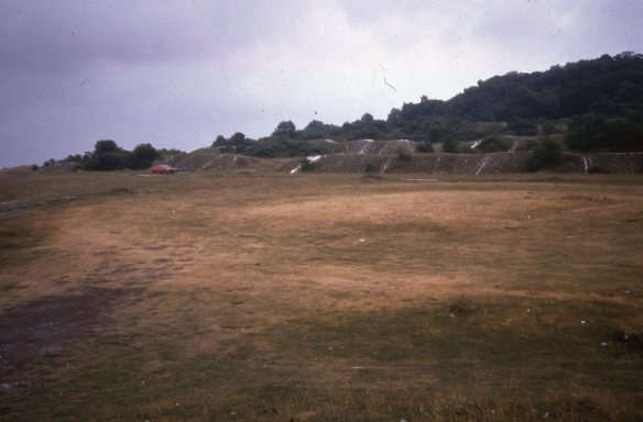 Brian's photo taken during a very dry summer in 1975 when he thought he had discovered the temple.