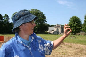 Cathy finds a lead musket ball