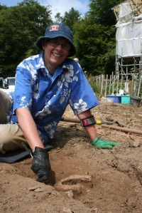 Cathy found this horseshoe in trench B