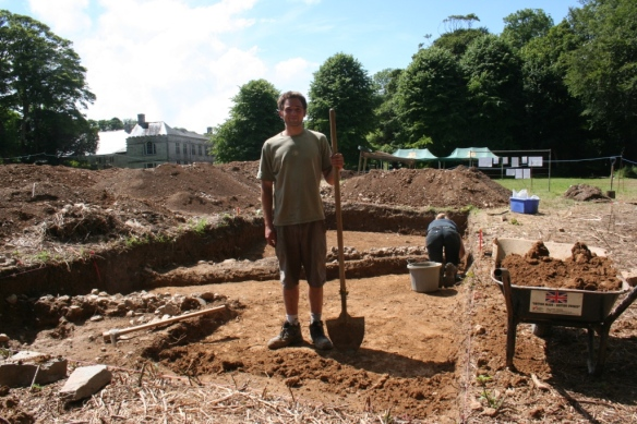 New volunteer Chris in trench A.