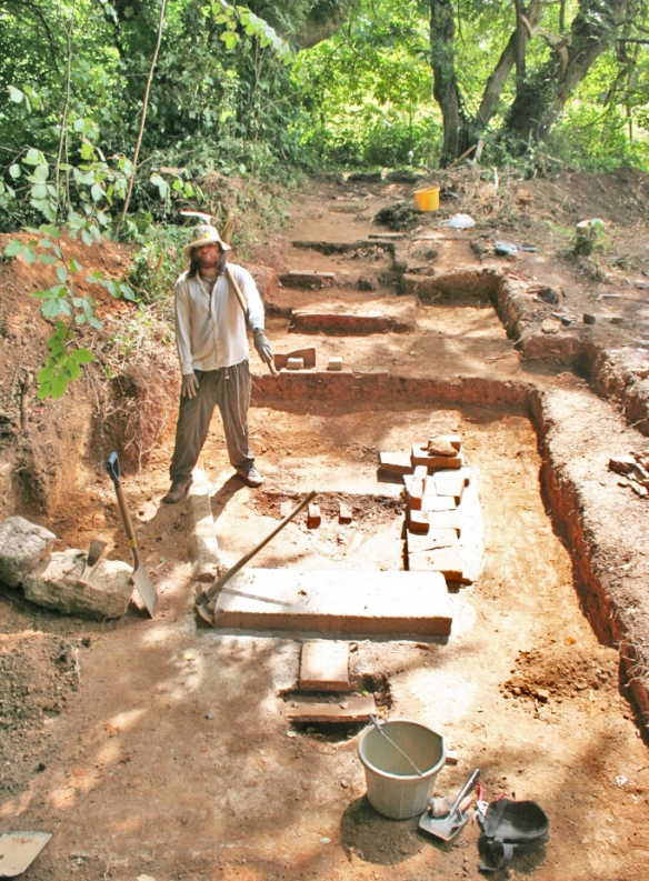 The fully excavated kiln site.
