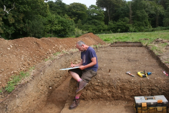 James the archaeologist hard at work.