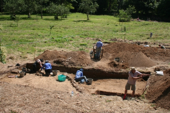 The late medieval layer seen in trench B.