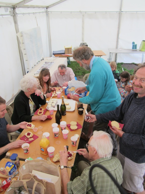 Cream tea for the workers at the end of the event