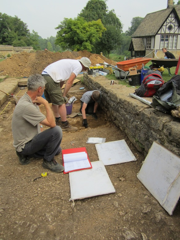 Martin drawing and recording the site