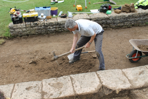 Martin gets going with the mattock