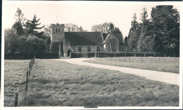 Adrian Mandels photograph of St Sephens Church on the estate April 1945