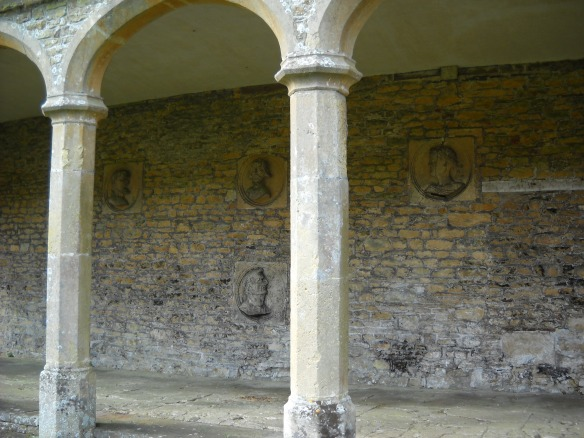 Inside William Knight's Loggia are four roundels depicting Hannibal of Carthage who crossed the alps in 216 BC and attacked Rome. Julius Caesar who in 49 BC started a Civil War that ended the Roman Republic. The Emperor Nero who is said to have ordered the burning of Rome in AD 64 and Atila the Hun who invaded Italy in AD 452. Why were these 4 figures chosen ?  Is there some secret code here? They were set up around the time that Henry VIII split from the Church of Rome and the Church of England was created. This enabled him to marry Anne Boleyn.
