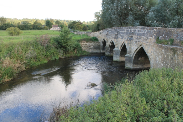The medieval bridge that still carries the road traffic to Devizes. The route of the road across Lacock park was shifted in the late 18th century but the position of the bridge remained the same.