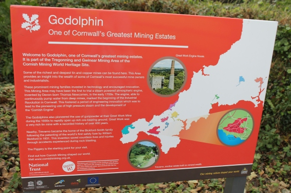 Map of Cornwall and the Godolphin Estate
