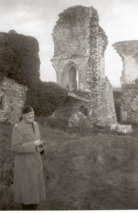 At Corfe Castle, in the upper ward the Goriette in the background