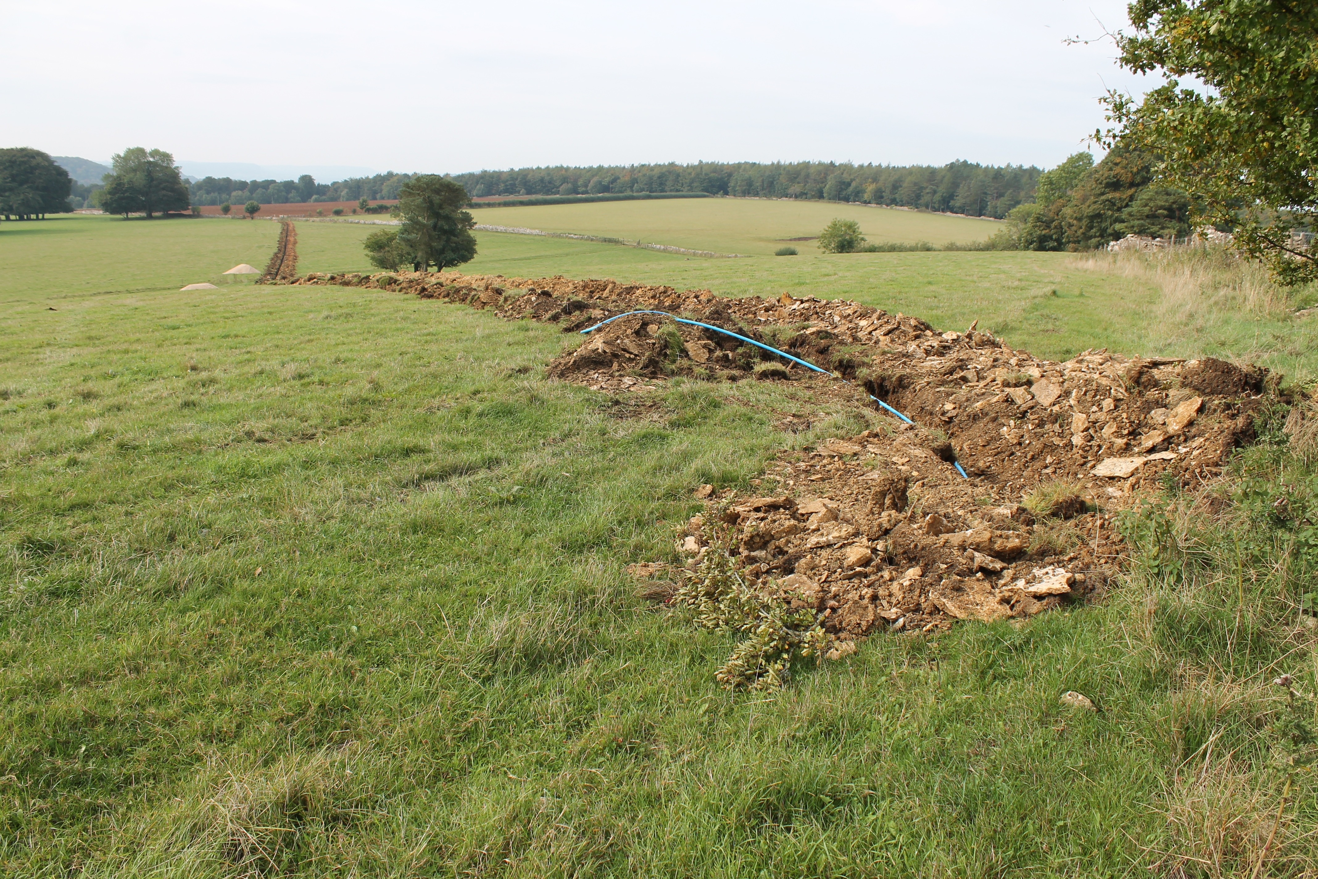 A typical watching brief situation. This time for a new water pipe at Ebworth, Gloucestershire dug in September this year.