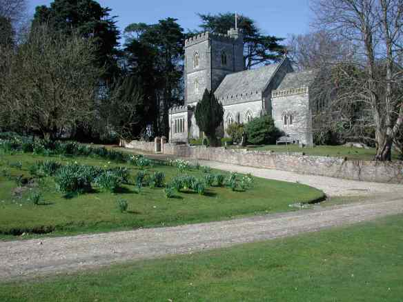 Brownsea Church built in the 1850s as part of Colonel Waugh's great development of the island.