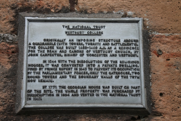 The plaque on the front of the Gatehouse tells its story