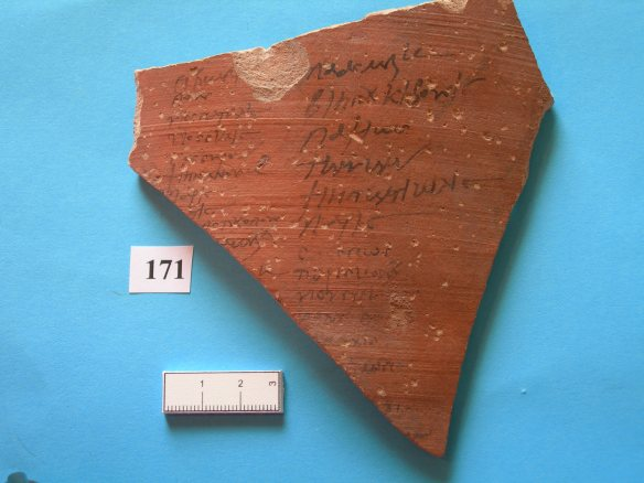 A large sherd, we are not sure if we have photographed it the right way up!