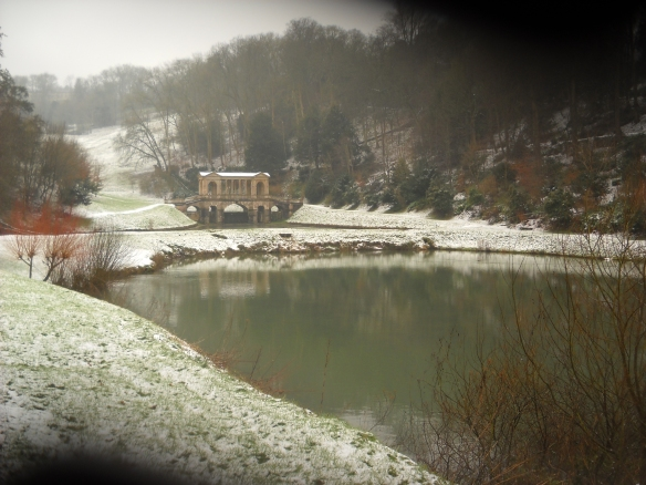 One of the dams at Prior Park recently repaired. The water is regulated using valves and sluices.