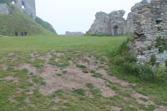 Erosion in the West Bailey. Is this area part of the Constable's House?