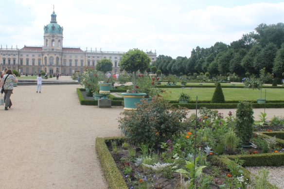 Schloss Charlottenburg Berlin, built 1695 (while Dyrham was being constructed) built for Sophie Charlotte, wife of Frederick III Elector of Brandonberg. The gardens near the house are maintained in the style that Dyrham's formal gardens originally had.