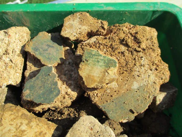 Roman painted plaster from the walls