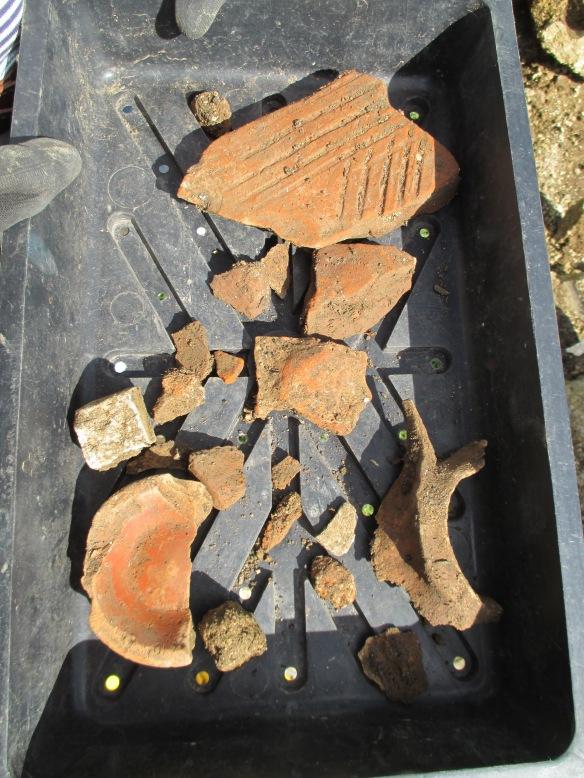 Pottery, bone, tile and tesserea