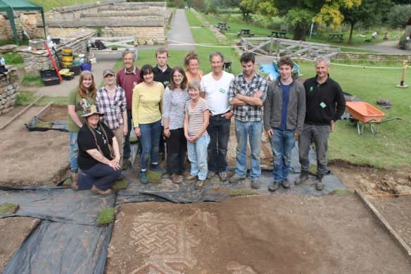 Last day for a few of us today. Many thanks particularly to Luke and Tom. The early days shifting concrete enabled the gentler pursuit of mosaic cleaning.