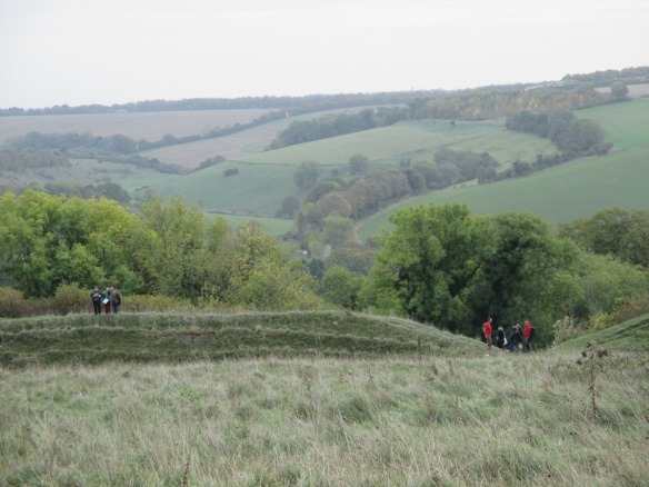 Group exercise  on Hod Hill