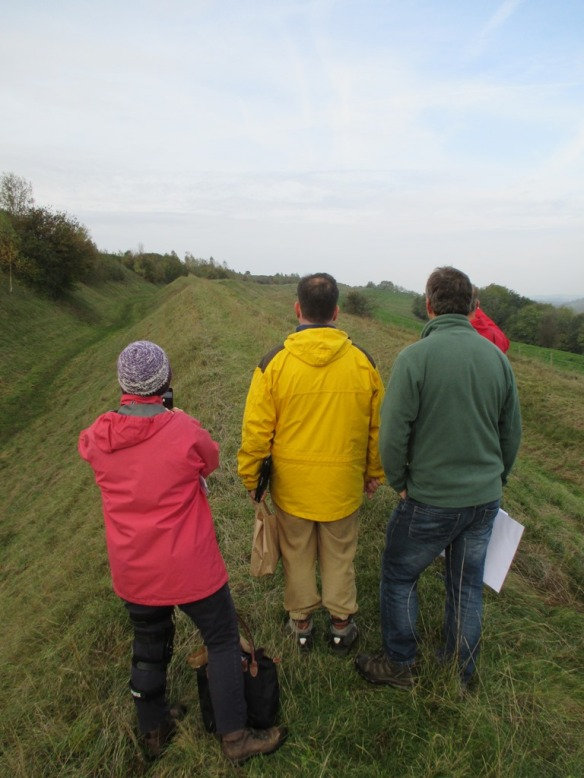 Standing on top of one of the ramparts at Hod Hill