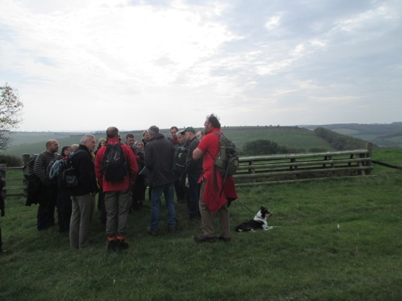 Stood on Hambledon Hill with Hod Hill in the background across the valley