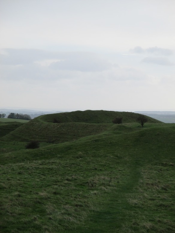 The snaking lines of ramparts, a giant sculpture from the Iron Age