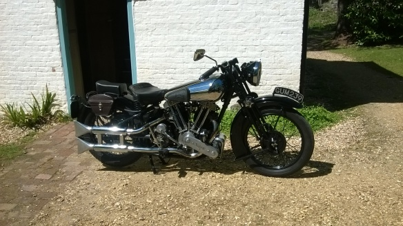 A Brough Superior motorbike