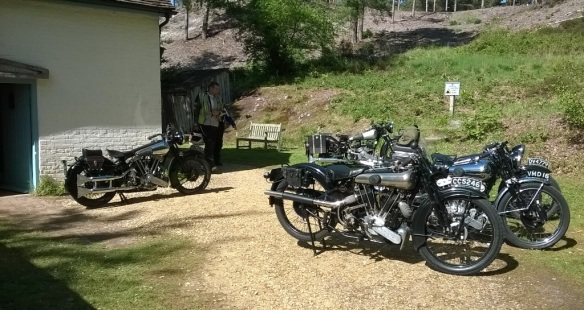 A bevy of Brough bikes