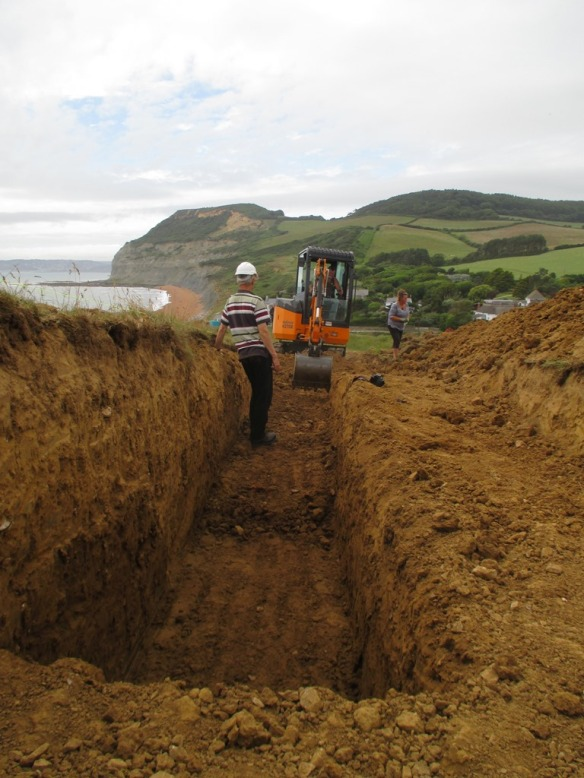 We decided to only go down deeper in half the trench, with a option to extend if we needed to