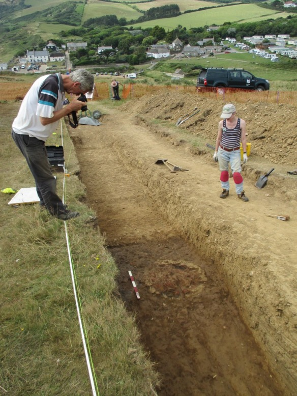 The feature is right in the middle of the trench