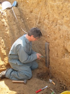 Mike preparing his samples
