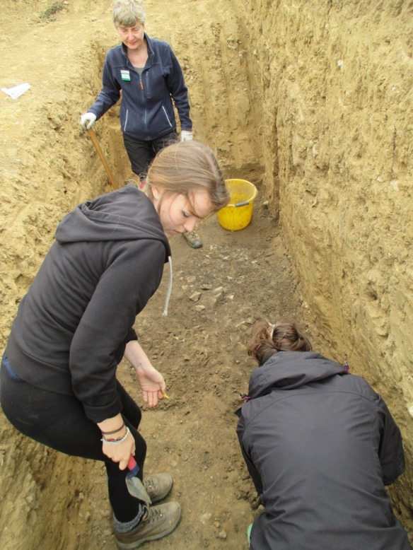 Carol, Alice and Ali working in the east end of the site