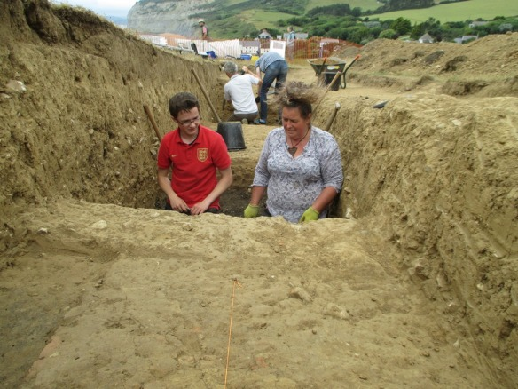 Alex and Fay in a hole!