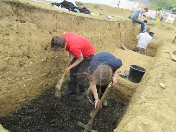 Alex and Alice doing a brilliant job digging the mound