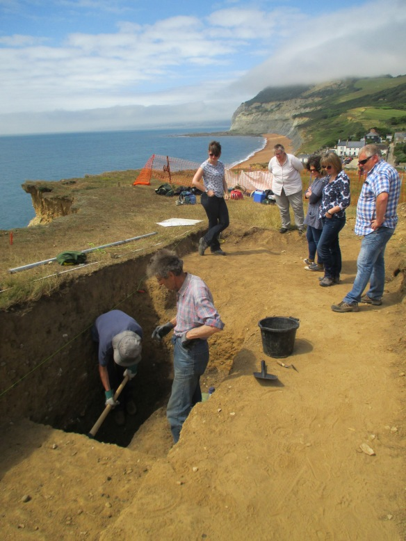 Our team from the National Trust came to visit and help on site