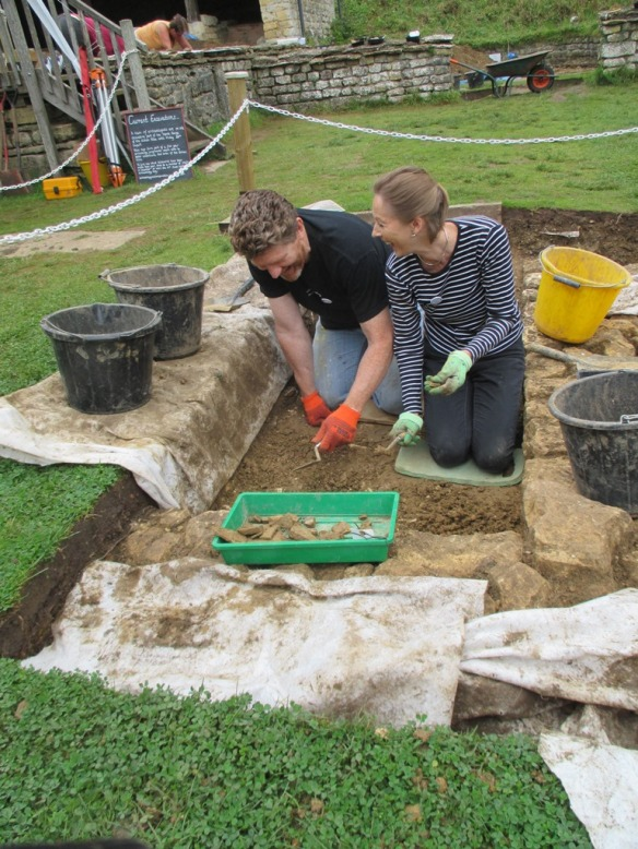 Nick and Roz working in trench