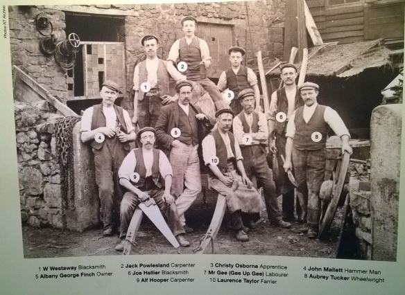 Some of the workers and owners of the forge