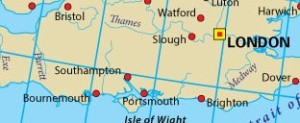 The 51 degree latitude line is the one that passes through Southampton