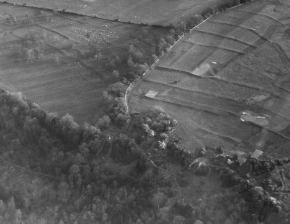 Bushey Norwood prehistoric field system looking south west towards Bath