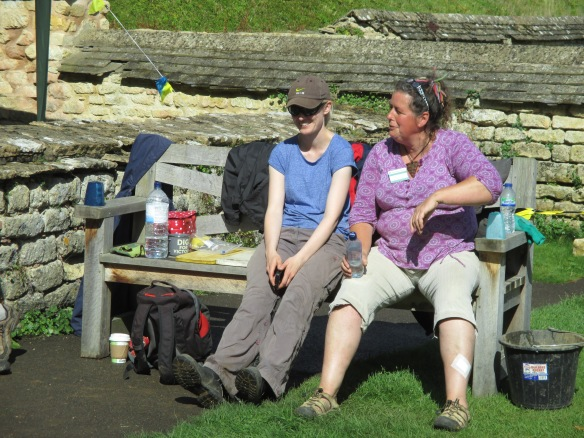 Fay and Kate take a well earned break
