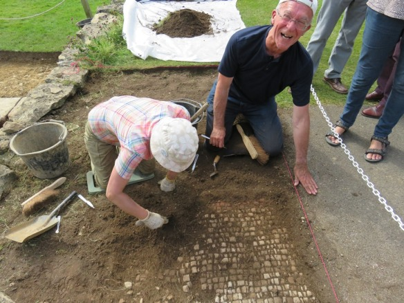 Its great to share the joy of archaeology and we were very happy to provide a little digging experience for one of our regular visitors Mike